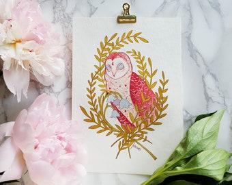 Gouache Owl - Original