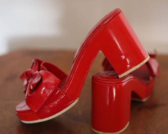 Red shoes 60s T36