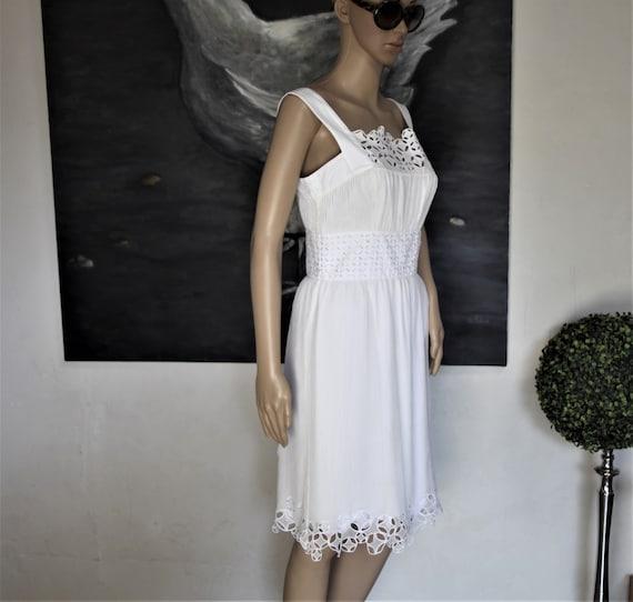 CATHERINE MALANDRINO white silk dress