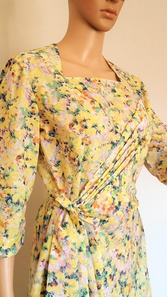 Vintage Galeries Lafayette year 50 flower dress, dress