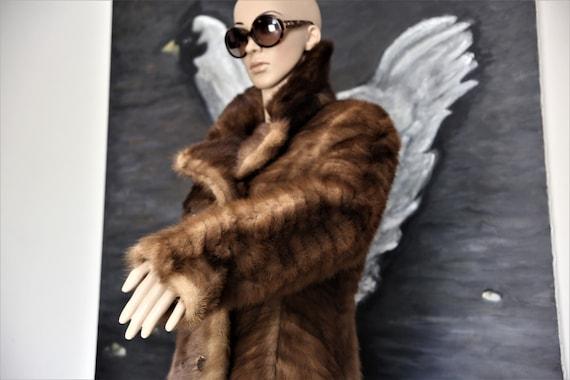 VINTAGE, mink patchwork coat