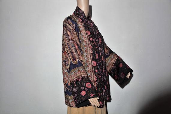 Silk 70 jacket, jacket seventies vintage hippie ve