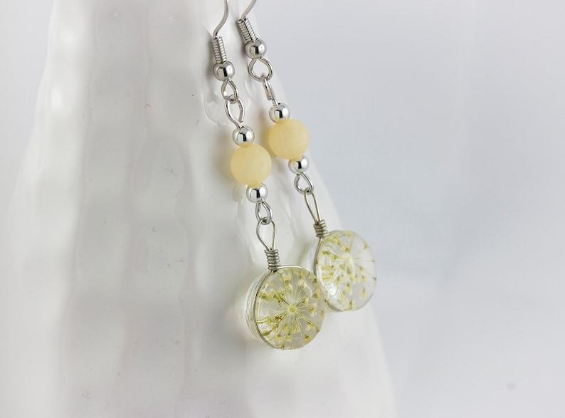 Earrings Pastel Flowers Dried Blossoms Girlfriend Beautiful Earrings Blooms For Women Great Gift Flowers