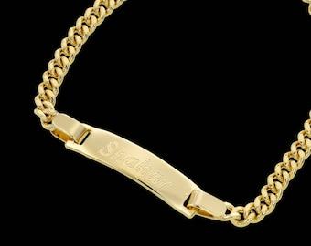 Gold Name Bracelet - Personalized Bracelet - Custom Bracelet - Personalized Jewelry - Personalized Gift - Engraved Bracelet - Coordinates