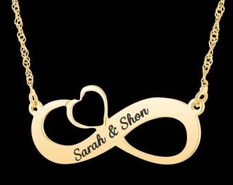 Personalized Infinity Necklace - Custom Infinity Necklace - Infinity Name Necklace - Personalized Name Necklace - Custom Name Necklace - BFF