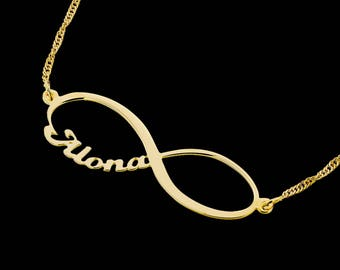 Gold Name Bracelet - Personalized Bracelet - Infinity Bracelet - Custom Bracelet - Personalized Jewelry - Personalized Gift - Engraved