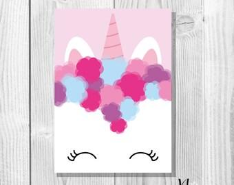 Unicorn - A6 Postcard