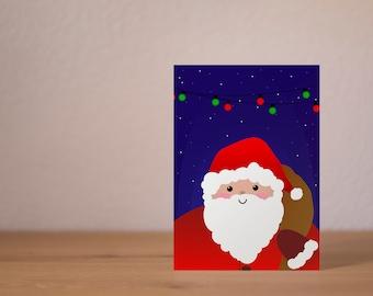 Santa - A6 postcard