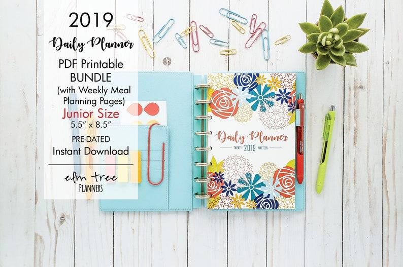 2019 Junior Daily Life Planner Printable Bundle Weekly Etsy