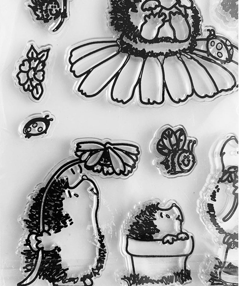 Hedgehog silione Stamps Hedgehog Stamps Cute stamps wildlife Stamps Scrapbooking stamps Animal stamps Hedghog Card making stamps