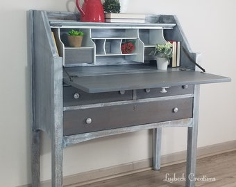 SOLD   Secretary Desk   Entry Table   Office Storage   Coastal Decor    Farmhouse   Rustic