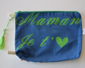 I love you MOM message pouch