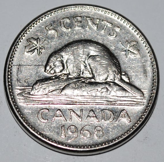 Canada 1968 5 Cents Elizabeth II Canadian Nickel Five Cent