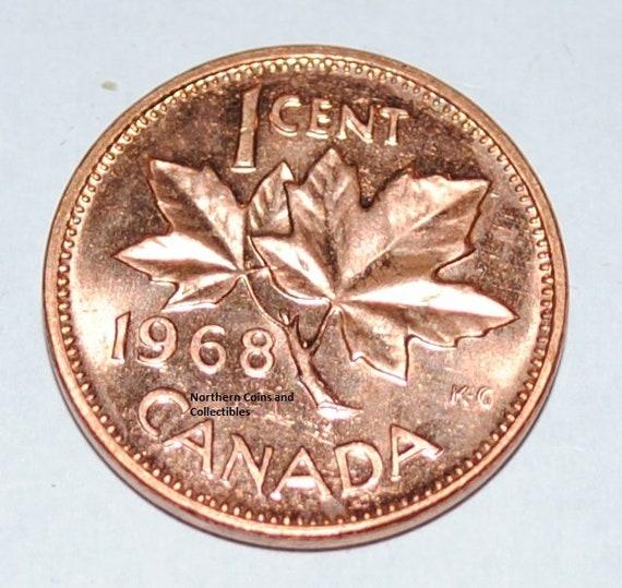 1968 Canada 1 Cent BU