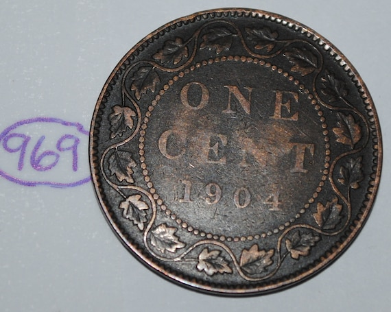 1904 Canada Large Cent Coin.