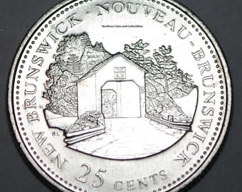 Canada 1992 NB 25 cents New Brunswick UNC Provincial Canadian Quarter