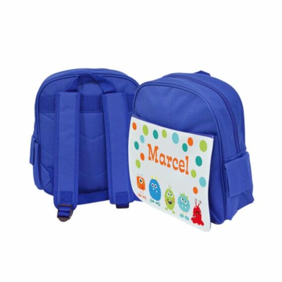 geschickte Herstellung detaillierter Blick Online bestellen Rucksack Kinder, Kindergartenrucksack mit Namen, Jungen, Motiv Monster,  Stifte, Flugzeuge, Ente