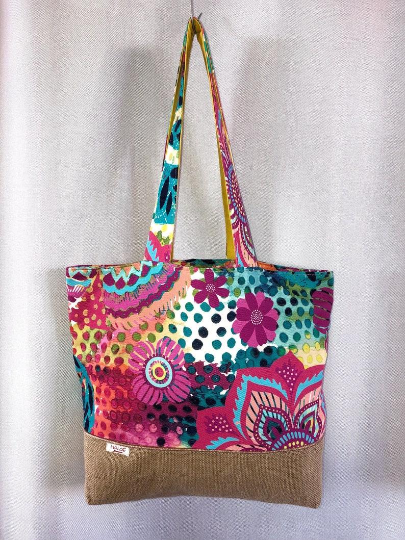 Tote shopping bag coloured Hessian  Tote bag colors and burlap