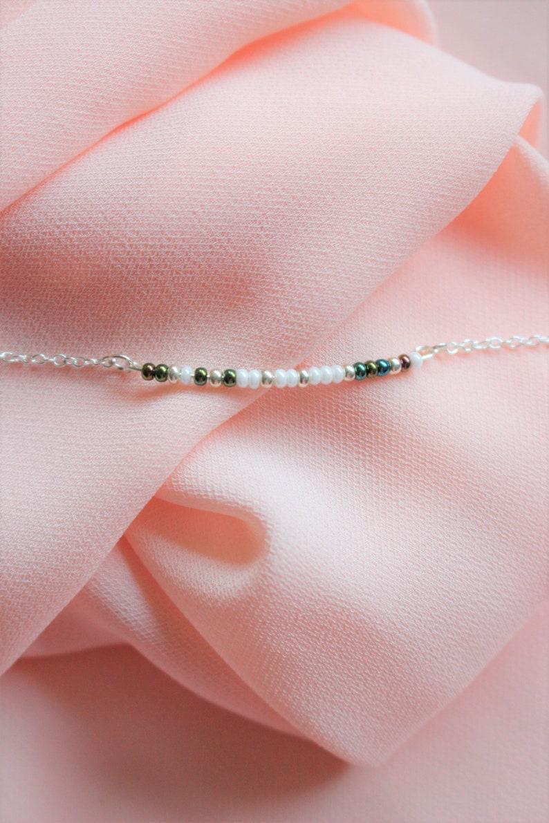 Morse code necklace morse code jewelry morse code necklace gold bead morse code necklace custom morse code necklace beaded morse code