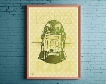 Star Wars R2D2 POSTER by Good Evening ART
