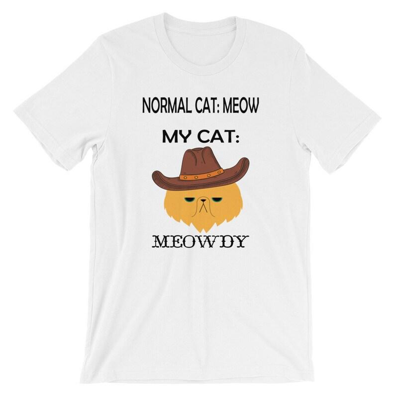 0a89015d Normal Texas Cowboy Cat Meow Meowdy Southern Shirt Short-Sleeve Unisex  T-Shirt