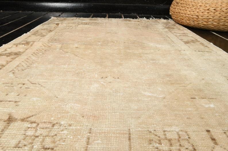 Home Decor Rug Decorative Area Rug 2.6 ft x 4.6 ft 77x137 cm Vintage Rug Turkish Carpet Rug Bohemian Carpet Kitchen Wool Rug