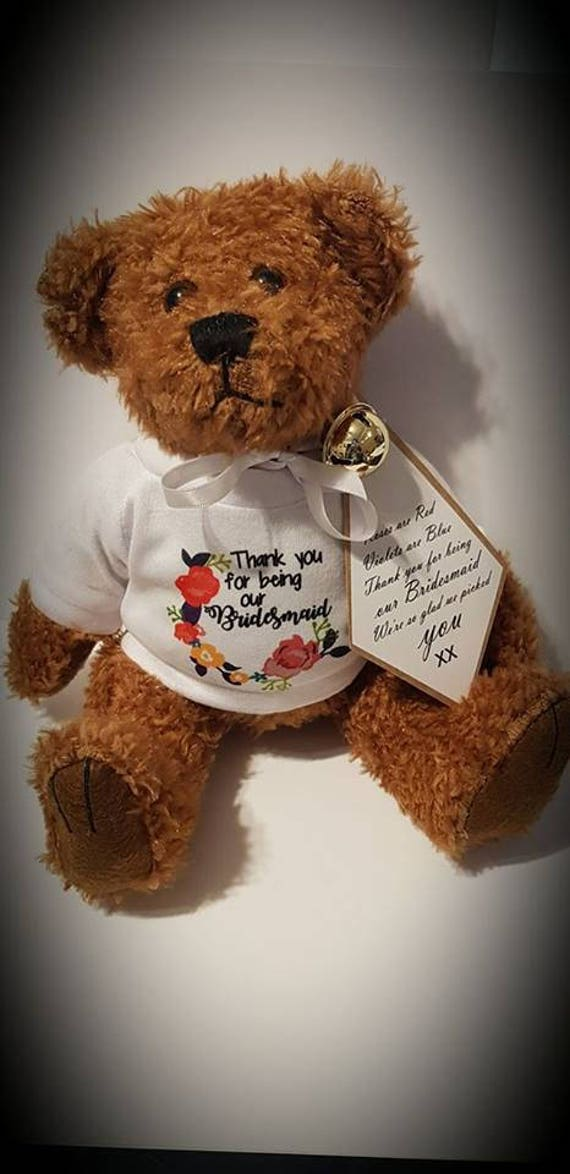 Teddy Bear Gift Tags Personalised