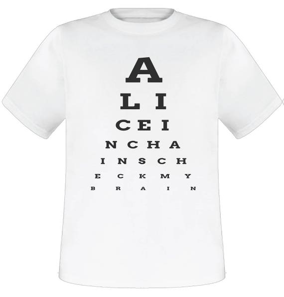 Alice In Chains Eye Chart White T Shirt Etsy