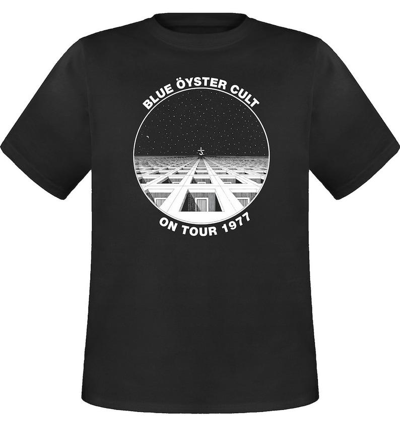 BLUE OYSTER CULT ON TOUR 1977 BLACK T-SHIRT