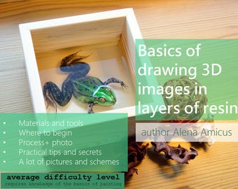 TUTORIAL-How to draw volume objects-Master Class PDF-Basics of drawing 3D images in layers of resin-Riusuke Fukahori technique-Master class