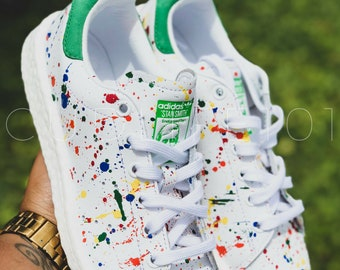 a8dee491357 Custom Paint Splatter Adidas Stan Smith