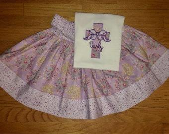 Set - Girls Twirly Skirt and Tee