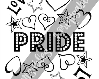 Lgbtq coloring page Etsy
