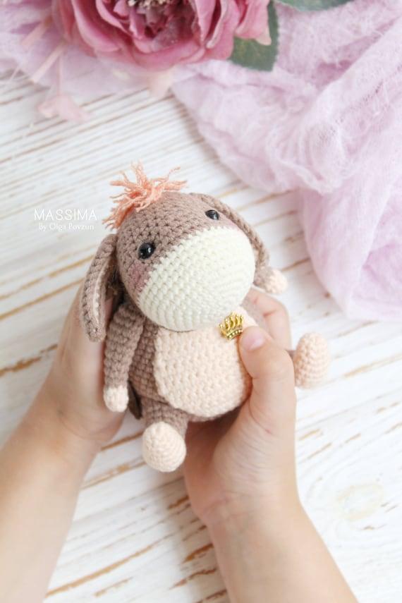Gestrickte Spielzeug Esel Amigurumi Esel Esel Spielzeug Etsy