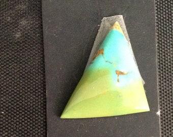 Kingman Turquoise/Poly-chrome/ Two-tone turquoise/ Free Form Cabochon/ Not backed/Arizona turquoise/southwestern/ 4 carats/tcff28