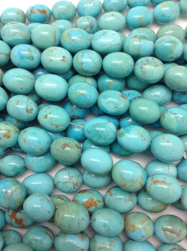 bead sizeArizona turquoise 16 strandDIY JewelrySouthwestern TSCN1 Kingman Turquoise calibrated nuggetsPotato shape 10x12 mm avg