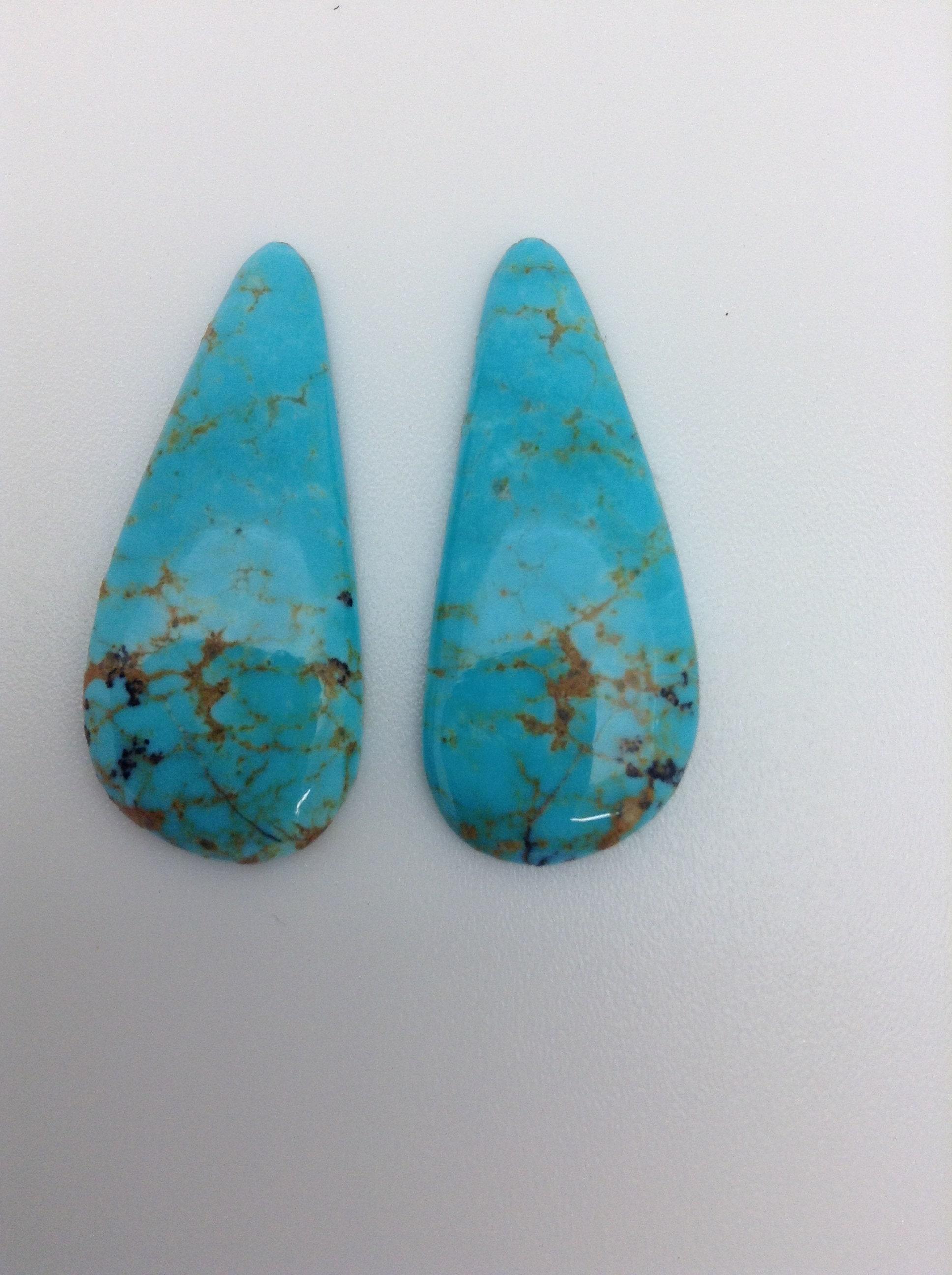 Kingman Turquoise / Tear Drop / / Drop Cabochon/Matching boucles d'oreilles / Arizona /Blue Turquoise/bricolage bijoux approvisionnement / 24,5 carats / pas soutenu / TCFF103 78ccc1