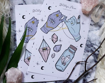 "Sticker, Aufkleber, Filofax, Bullet Journal, Set ""Magic"""