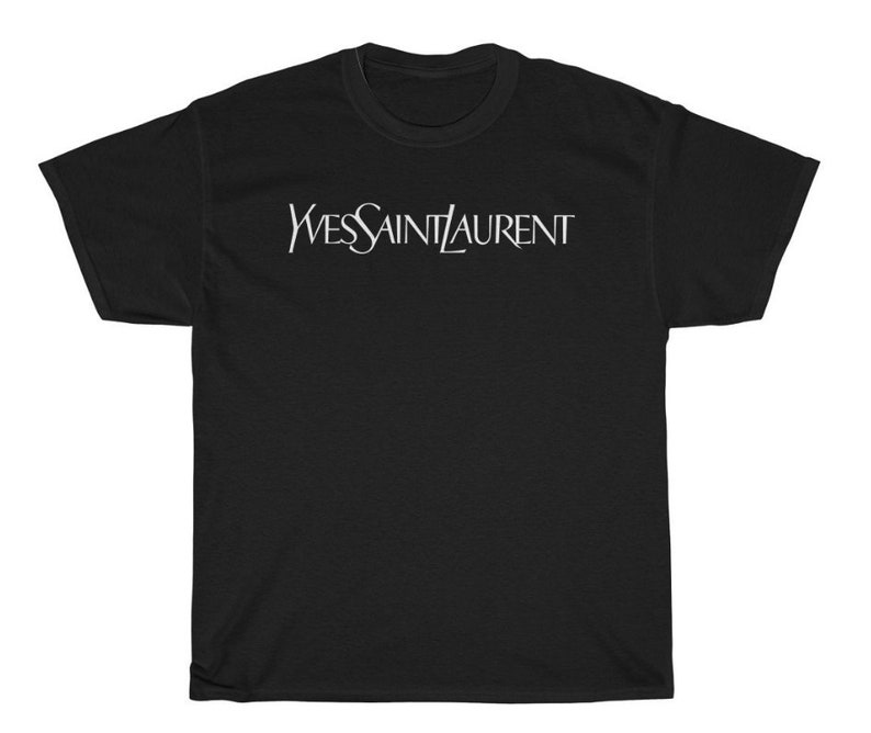 f3ad79af6bb6b Brand New Yves Saint Laurent Ysl Inspired T Shirt White T | Etsy