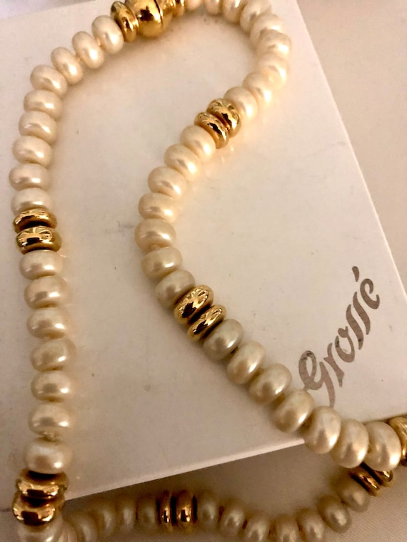 Grosse Glass Pearl Choker Necklace