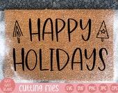 happy holidays svg | christmas svg | holidays svg | happy christmas svg | holiday svg | holiday decor svg | merry and bright svg