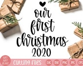 our first christmas 2020 svg | happy holidays svg | first christmas svg | merry christmas svg | holidays svg | holiday svg | holiday decor