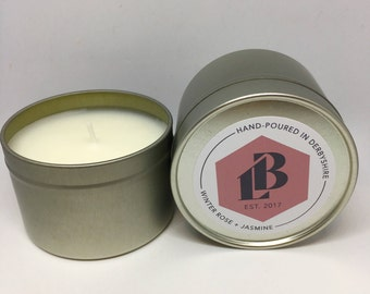 Winter Rose & Jasmine Soy Wax Candle
