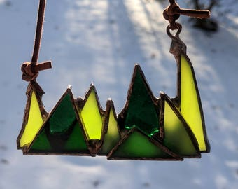 Forest (small) Stained Glass Suncatcher