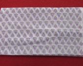 Indian White Colour 100 Pure Cotton Floral Print 10 Yard Plain Fabric