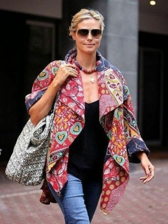 5 Pcs Lot Indian Vintage saree Silk Patchwork Work Jacket Women Jacket Silk jacket vintage jacket old jakit Silk Kanta jakit Quilted jackets