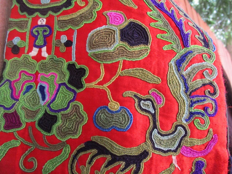 vintage Chinese unisex tribal embroidered jacket   # 412C     FREE shipping in USA