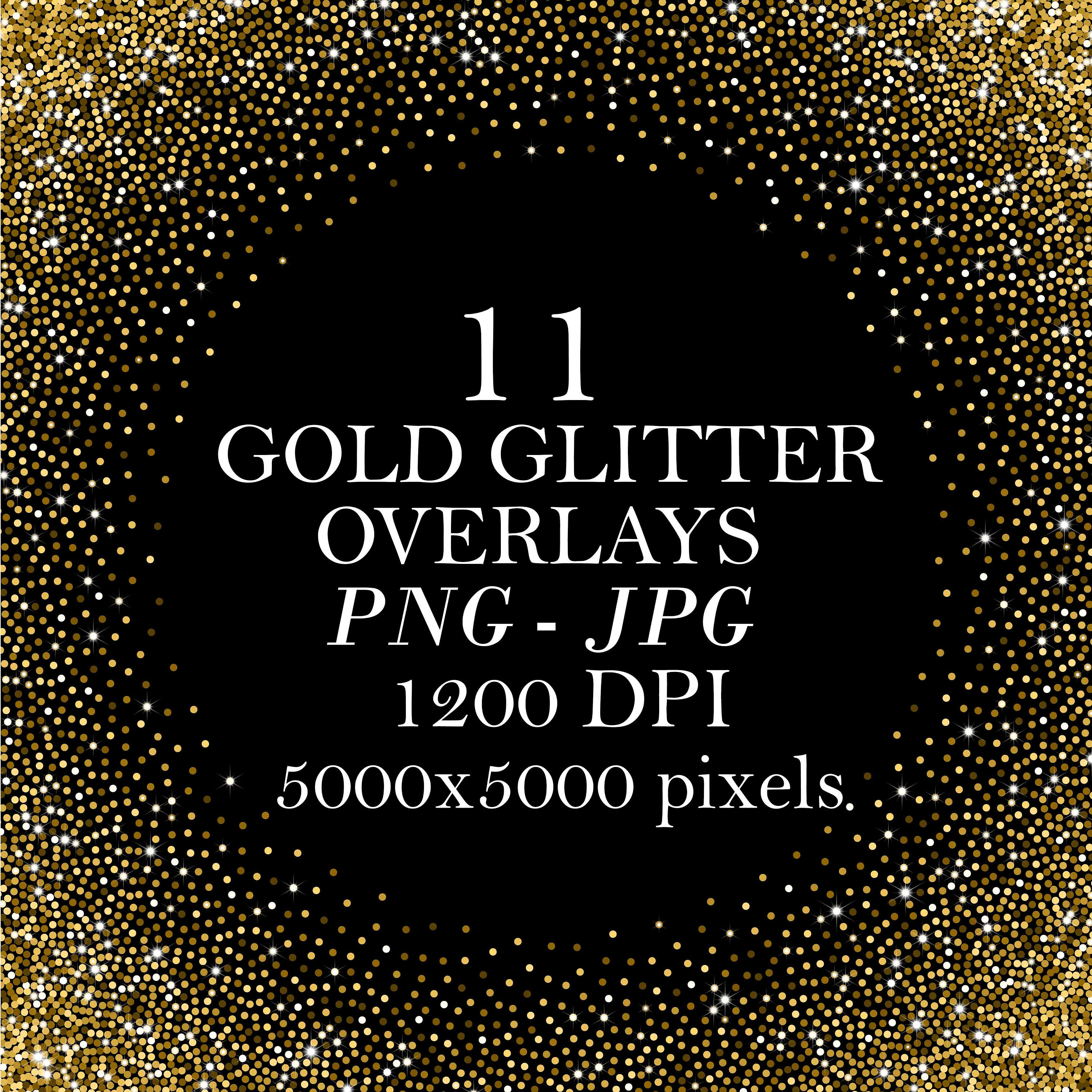 11 Gold Glitter Overlays, Golden Texture Background, Photoshop Overlays,  Glitter backdrop, Confetti overlays, gold glitter frames, PNG files