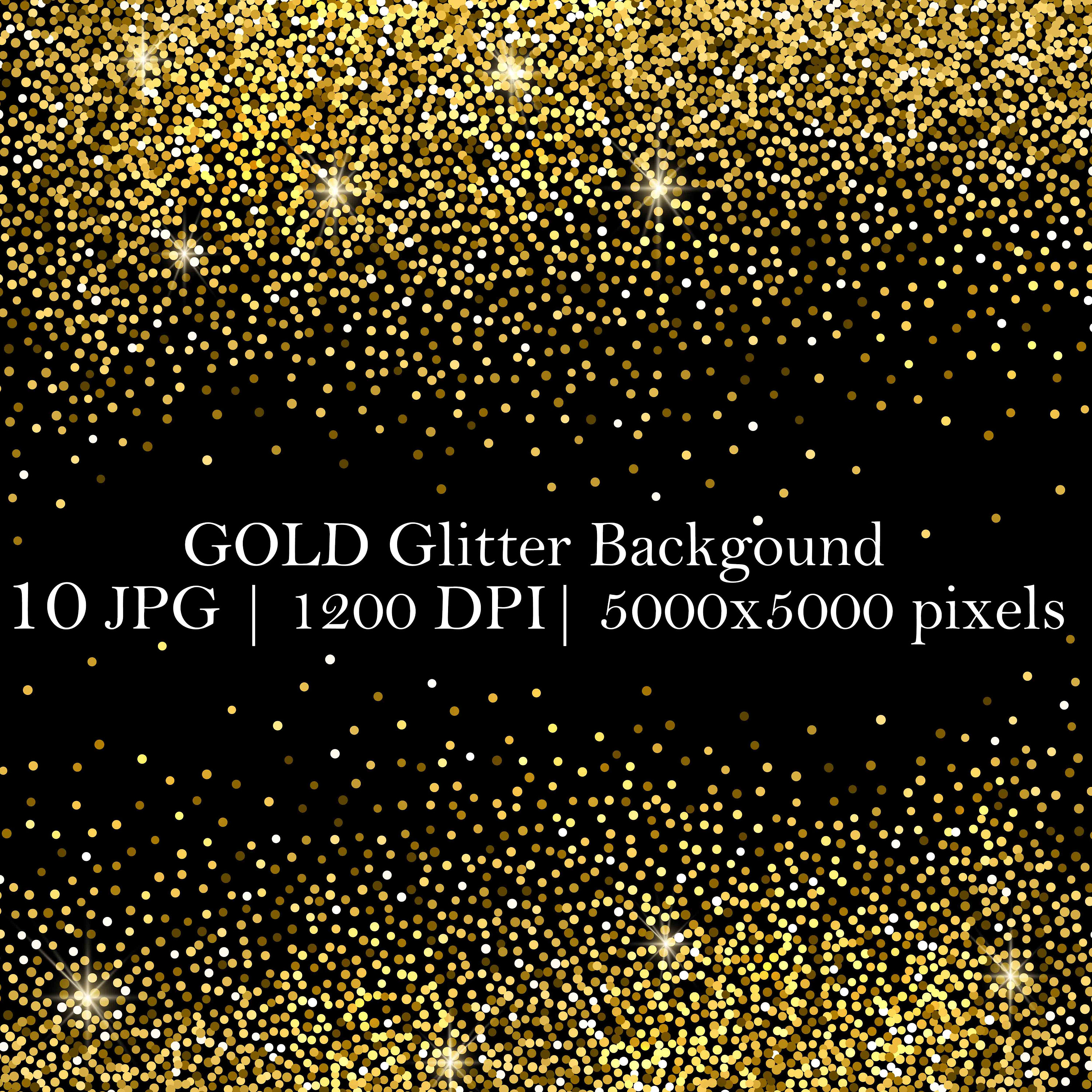 Gold Glitter Background Overlays Set 10 Jpg Files Photoshop Etsy