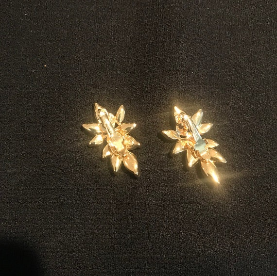 Trifari Rhinestone Comfort Clip Earrings - image 3